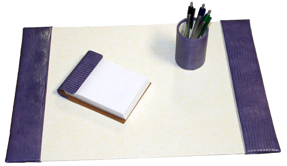 15x22 Reptile Leather Desk Pad Set