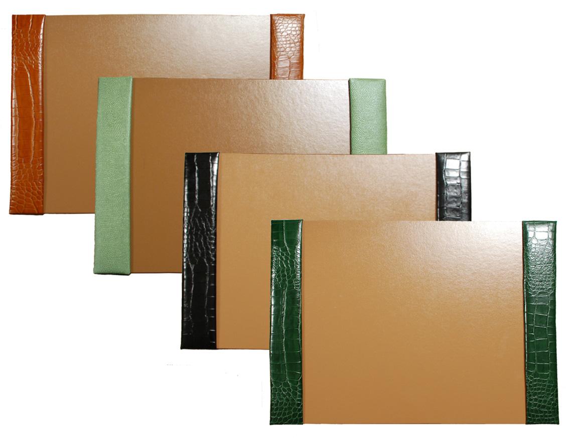 20x30 Croco Reptile Grain Leather Desk Blotters