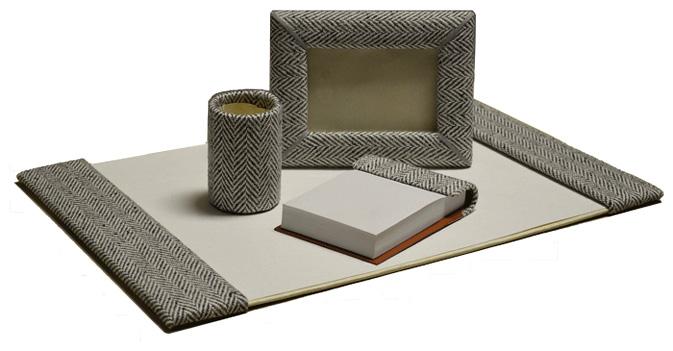20x34 fabric desk blotter fourpiece set - Desk Blotter